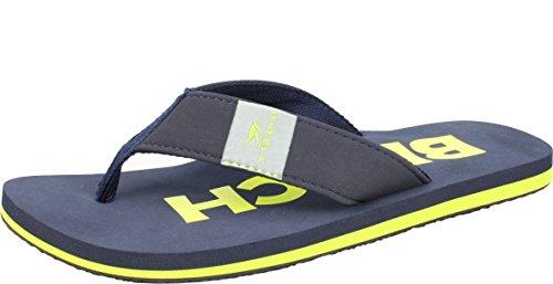 Bockstiegel Beach Zehentrenner | Flip | Herren | Damen | 36-46 | Badelatschen | Strandschuhe | Zehenstegpantolette, Größe:39/UK 5.5, Farbe:DK Blue/Yellow