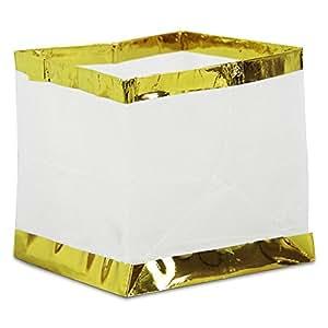 8 x Wasserlaterne Wasserlampion mit Teelicht Papierlaterne 15 cm