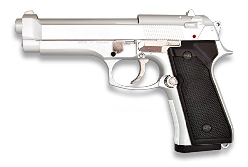 MARTINEZ 35163  PISTOLA AIRSOFT M92F METALICA  COLOR PLATA  CALIBRE 6MM  POTENCIA 0 5 JULIOS