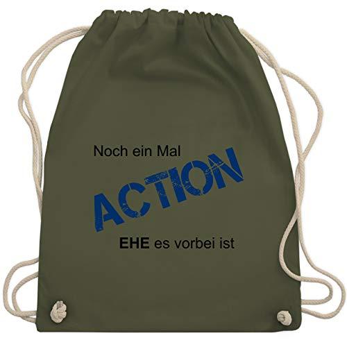 JGA Junggesellenabschied - Noch einmal Action EHE es vorbei ist - Unisize - Olivgrün - WM110 - Turnbeutel & Gym Bag