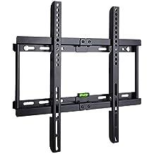 BPS Ultra Slim Flach Wandhalter TV Wandhalterung universell passend für alle TV und Monitor Hersteller 81cm-140cm(32-55 inch), VESA/ Lochabstand 100 x100-400x400, Kapazität 95kg, Wandabstand nur 3,5cm