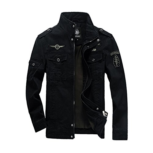 Newbestyle - Chaqueta - para hombre negro Large