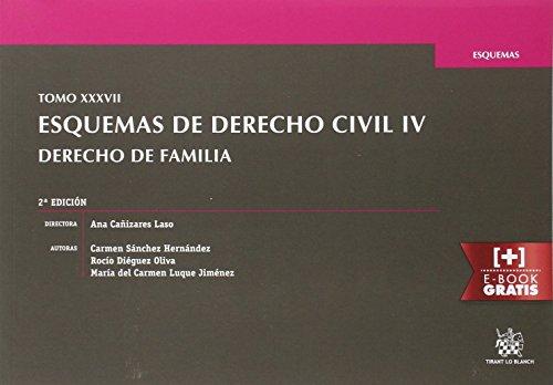 Tomo XXXVII Esquemas de Derecho Civil IV Derecho de Familia 2ª Edición 2016 por Carmen Sánchez Hernández