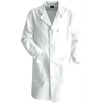 LE CEDRE mod Mercure Blouse de travail à boutons 100 % coton Blanc T2, M, 44/46