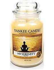 Yankee Candle 1507698E Bougie Parfumée Grande Jarre Sérénité Combinaison Jaune 11 x 11 x 20 cm 623 g