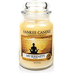 Yankee Candle 1507698E - 623 g Mi serenidad Vela en jarra grande color amarillo