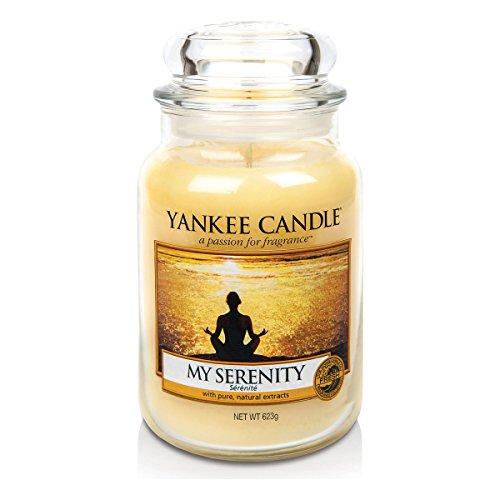Yankee candle 1507698E My Serenity Candele in giara grande, Vetro, Giallo, 10x9.8x11.9 cm