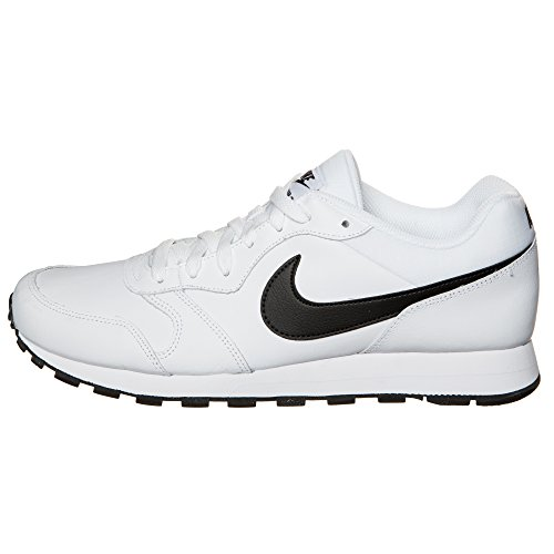 Nike Md Runner 2 Leather, Chaussures de Sport Homme blanc/noir