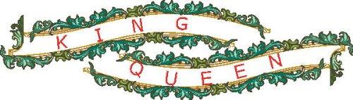 PEMA INDIGOS UG - Wandtattoo Wandsticker Wandaufkleber Aufkleber bunt farbig MF162 König und Königin Queen King ranke tribal 240 x 67 cm
