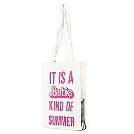 Barbie Borsa di Spalla Colpire i Colori a Lettere Stampate in Tela da Donna Ragazza Bambina Colore Nero Bianco#BBFB585(S…