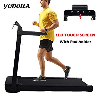 YODOLLA Electric Folding Treadmill Exercise Machine LCD display with pad holder, 12 programs,easy assembly from YODOLLA-UK