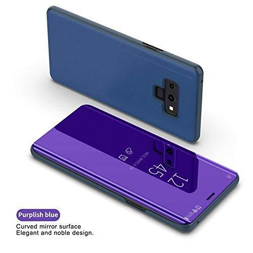 EliteMill Schutz Handyhülle, Flip Schutz Handyhülle Vollbild Fenster Cover Kompatibel mit Samsung S10/S10P/S10E - Lila, for Samsung S10 -
