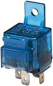 Hella 4ra 003 530 001 Relais Arbeitsstrom 12v 4 Polig Schaltbild S10 Stecker A Schließer Farbe Hellblau Mit Halter Auto