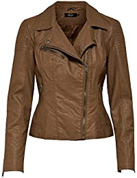 Only Onlflora Faux Leather Jacket CC Otw, Chaqueta para Mujer