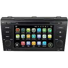 2 Din 7 pulgadas Coche Estéreo con GPS Navegación Android 5.1.1 Lollipop OS para Mazda 3 2004 2005 2006 2007 2008 2009,Pantalla Táctil Capacitiva con 1.6G de la Cortex A9 Quad Core CPU 16G y 1G DDR3 RAM Flash 1024x600 Radio DVD 3G/WIFI OBD2 Aux Entrada USB/SD DVR
