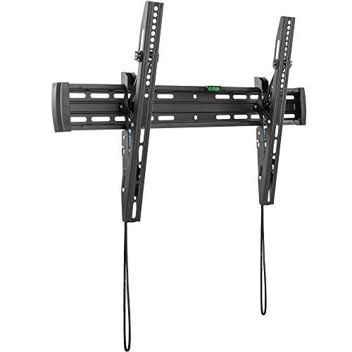 RICOO TV Wandhalterung N4564 Universal für 37-70 Zoll (ca. 94-178cm) Neigbar Super Flach Wand Halter Aufhängung Fernseh Halterung auch für Curved LCD und LED Fernseher | VESA 300x200 600x400 Schwarz
