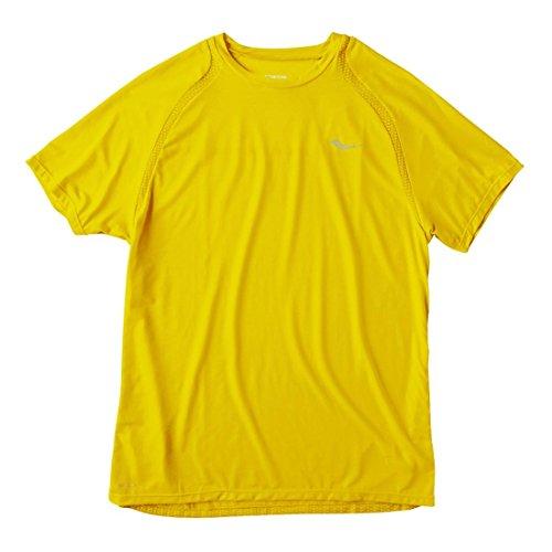 Saucony Damen Herren Freiheit T-Shirt, kurzärmelig, Herren, Sun (Saucony Bekleidung Herren)
