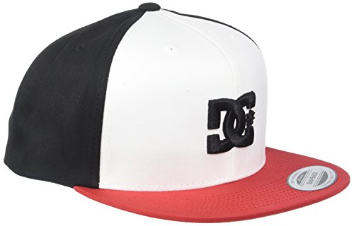 DC Shoes Snappy Snapback Cap, Hombre Black/White - Combo,