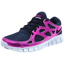 cheaper dbda6 d614e NIKE Women s Free Run 2 PRM EXT Running Shoes, Black Black-Rave Pink