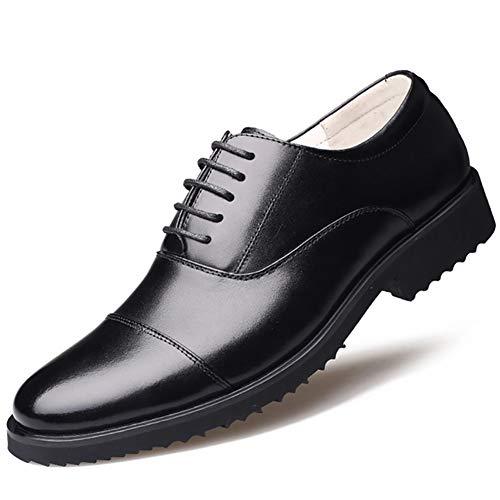 XI-GUA Herren Freizeitschuhe Bequeme Leder Rutschfeste Schnürschuhe Militärschuhe städtische Arbeitsschuhe tragen Schuhe