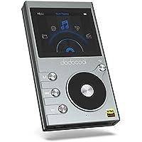 dodocool 8GB Hi-Res Lecteur de Musique Hi-FI Audio Digital Lossless, Baladeur Sport de Musique avec Enregistreur Vocal et Radio FM, 2 Pouces Ecran LCD, 30 Heures Lecture et Extensible 256G,Gris