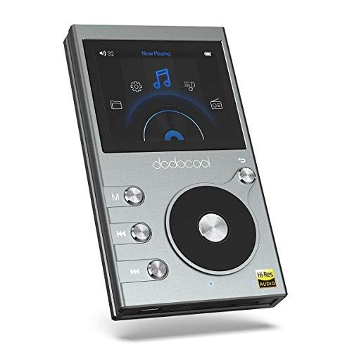 dodocool Reproductor Música Alta Resolución de Audio HiFi Music Player 8GB Sonido Digital con Grabadora de Voz y FM Radio 30 Horas 2' LCD Pantalla