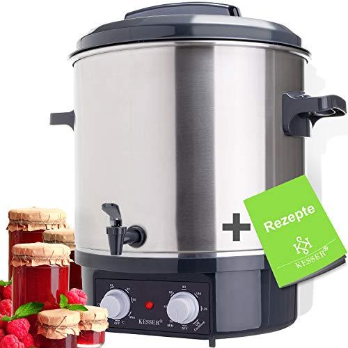 KESSER Einkochautomat 27 Liter mit Timer   1800 Watt   Temperatur von 30-100°C   Zeituhr bis 120 Minuten und