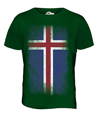 CandyMix Island Verblichen Flagge Herren T Shirt Flaschengrün