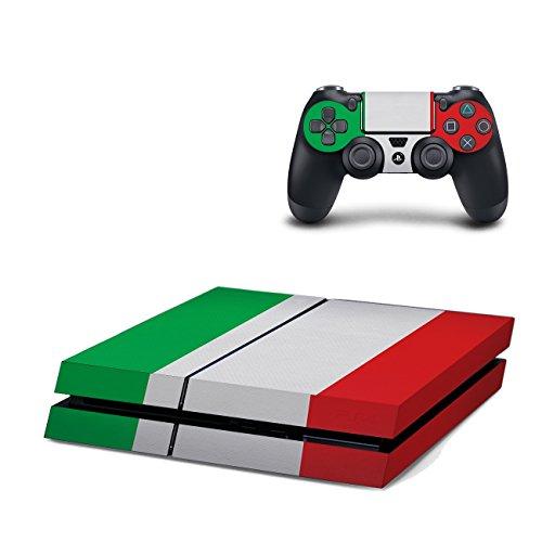 Playstation 4 Konsole + 2 Controller Design Schutzfolie Skin Faceplates Schutz Folie Motiv Italien PS4 PS 4 ( Herstellung in Deutschland ) Skin Design Schutzfolie