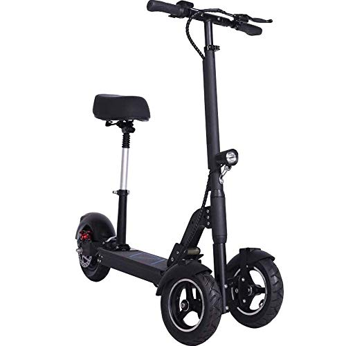 Dpliu-HW Bicicleta Eléctrica Adulto Invertido de Tres Ruedas Scooter eléctrico Artefacto Plegable Coche pequeño Batería Coche Mini Pedal 48V 10Inch...