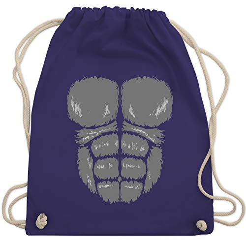 Karneval & Fasching - Gorilla Kostüm Fasching - Unisize - Lila - WM110 - Turnbeutel & Gym Bag