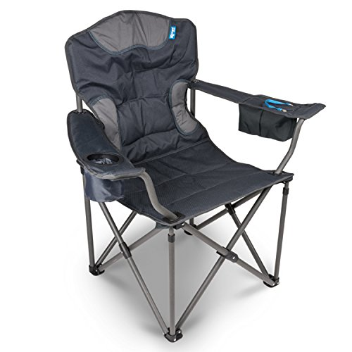 campersten XXL Campingstuhl | EXTRA breite Sitzfläche u. hohe Tragkraft | 180KG belastbar | LUXUS...