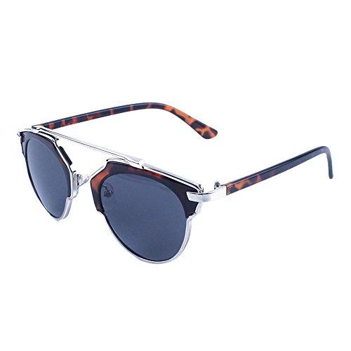 Damen Herren Vintage Retro Brille Unisex Fashion Spiegel Gläser Sonnenbrille Gr. Einheitsgröße, a
