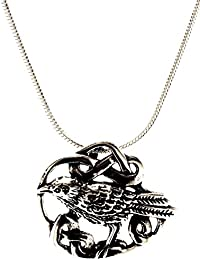 Ravens 925Sterling Silver Pendant with Silver Chain 2mm