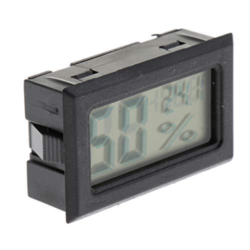 Homyl LCD Digital Thermometer Hygrometer Temperatur und Luftfeuchtigkeitsmesser Für Terrarium Schildkröte Schlangen Eidechsen - Schwarz