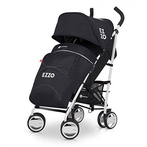 Buggy EZZO Sport Kinderwagen | Baby ab 6. Monate | Kompakt Faltbar | Farbe: Anthracite (Leder Polyester Liege)