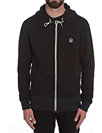 Sweat zippé à capuche Volcom Backronym Noir