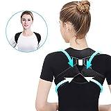 Correcteur de posture, ceinture de correction réglable de soutien d'épaule arrière pour les enfants adultes bonnes postures pauvres 2 couleurs(L-Noir)