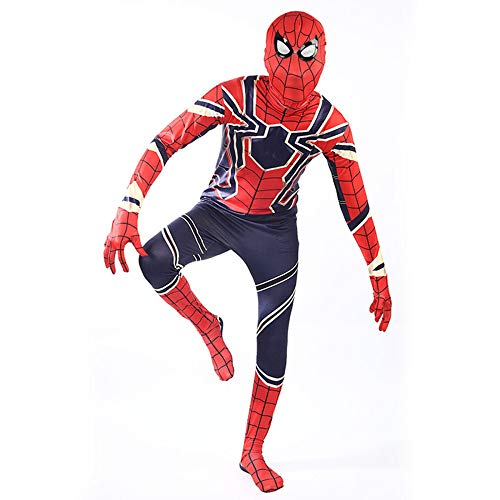 BLOIBFS Kids Superheld Spiderman Kostüme Für Kinder Action Dress Ups Und Zubehör Party Cosplay Kostüm,Kids-S