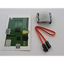 HC-SR501 PIR Motion Alarm Detection module for Raspberry Pi or Arduino. Comes with a GPIO wiring card for Pi & 3 IDC GPIO cables