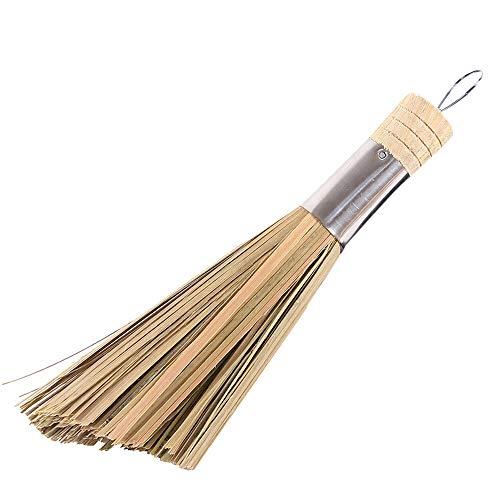 Traditionelle, Natürliche (Slifor Natürliche Bambus-Topfbürste Antihaft-Öl-Eisen-Topfbürste, Sweep traditionelle natürliche Bambusreinigungsbürste Dishware Küchengeräte)