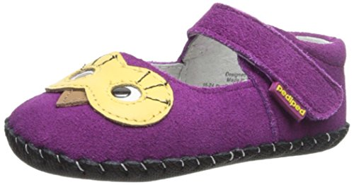 Pediped Originals Jazzie Magenta Suede Soft Soles Magenta
