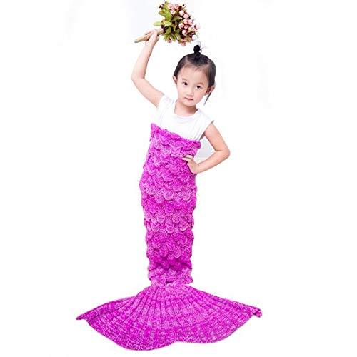 MIRRAY Mantas de Sirena para niños Patada de Cachemira Manta Tejida Colcha de Aire Acondicionado