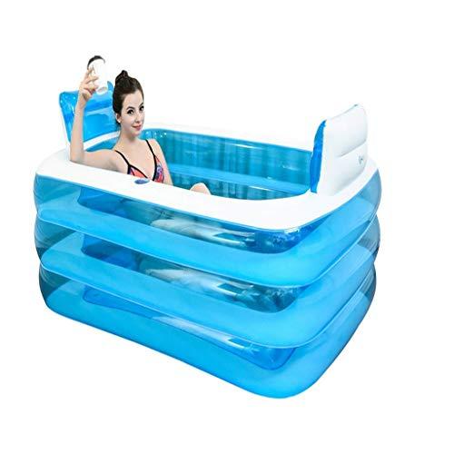 liuhoue Aufblasbare Badewanne Kunststoff Portable Faltbare Badewanne Einweichen Badewanne