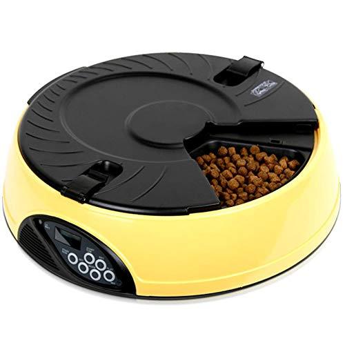 Automatische Katzenfutterspender - 6 Mahlzeiten LCD Auto Feeder Für Hund Mit Timer Und Voice Recorder Feeder Food Bowl,Pink