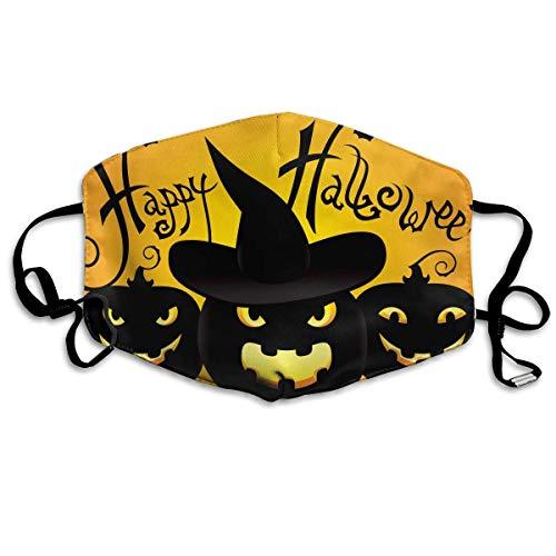 Reusable Mund Maske, Face Mask, Unisex Mund Maske Fashion Halloween Pumpkin Flu Germs Masks Can Be Washed Reusable for Outdoor Cycling