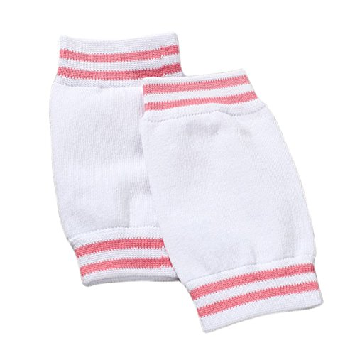 Hosaire 1 Paar Knie Schutz für Kind Baby Verstellbarer Elastische KnieSchutz Baby Kniebandage Kind Knieschoner Knie Krabbelschoner Anti-Rutsch Knieschützer Knie Schutz,über 3 Jahre alt (Weiss)