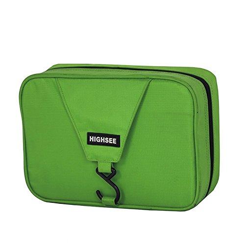 lazutom portatile grande capacità impermeabile borsa per passeggino, Beauty case da viaggio Borse da viaggio, uomo Donna, Rose Green