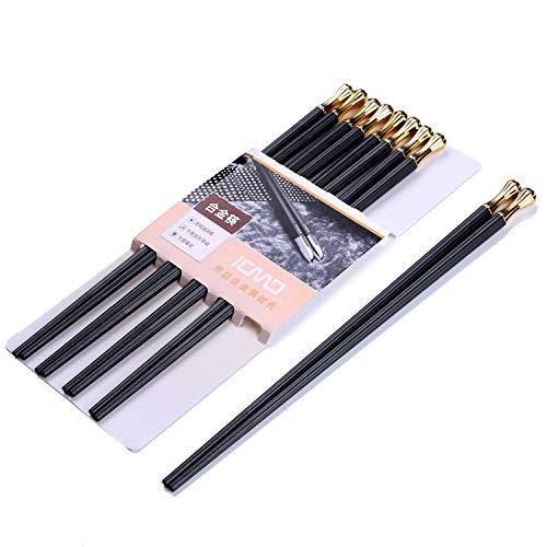Sillas de comedor japonesas 5 pares de palillos de aleación Barandas de...