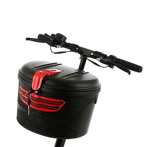 Telaio anteriore per bicicletta elettrica auto cestino mountain bike plastica speciale con serratura copertura antipioggia antipolvere da bicicletta, da appendere, manubrio sella